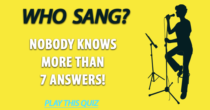 Quiz: Who Sang These Songs?