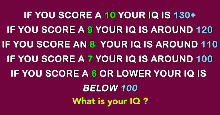 Like and Share if your  IQ is above 130
