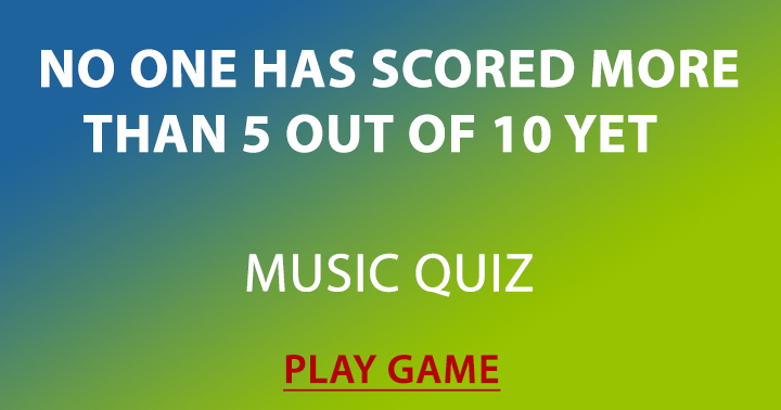 Music quiz for intelligent people