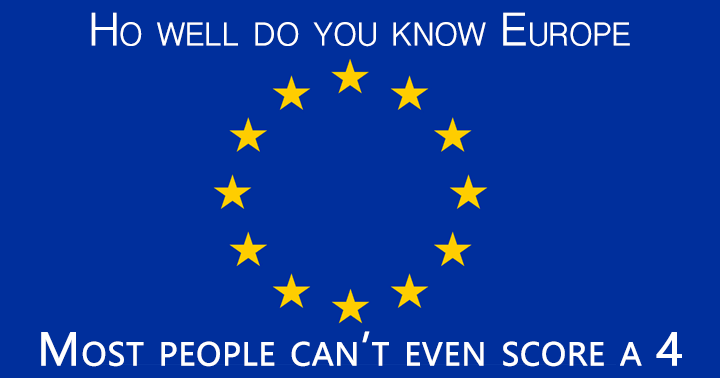 Quiz for the intelligent  European