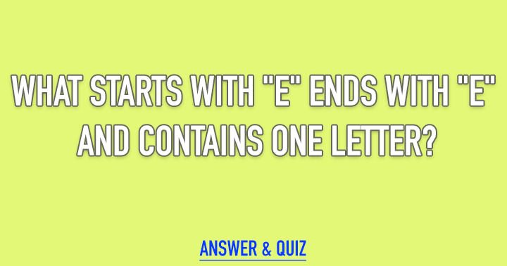 Can you solve the riddle?