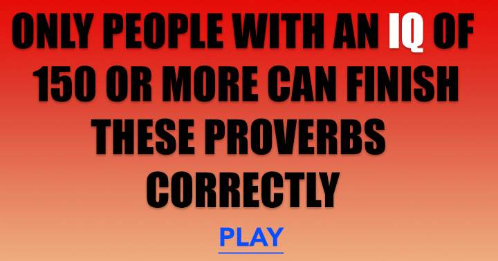 Proverbs Trivia Quiz