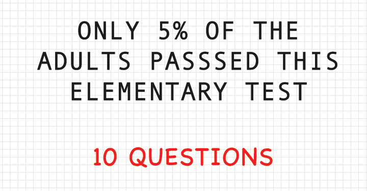 Can you pass this elementary test