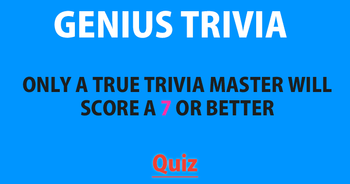 Are you a true trivia master?