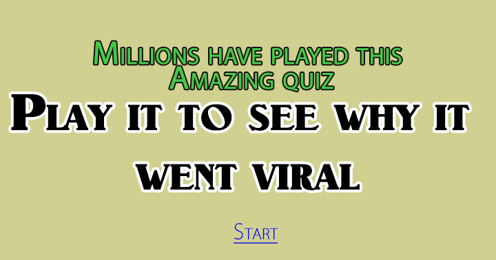 Play this viral quiz