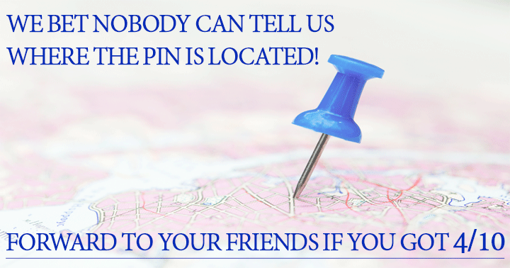 Where is the pin?