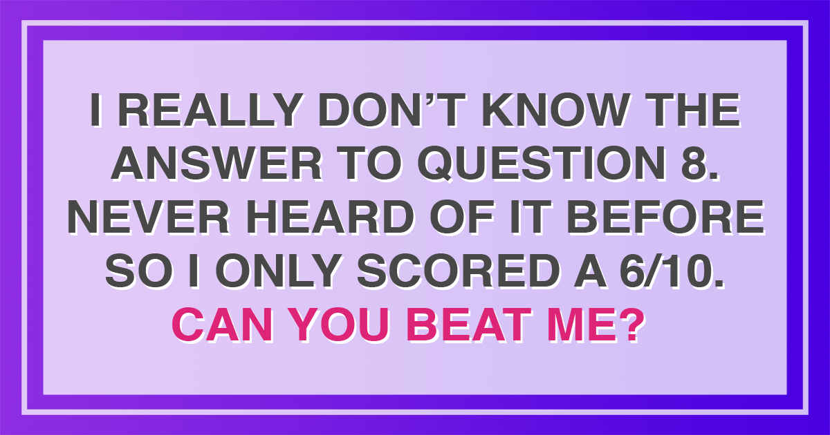 General Trivia for experienced quizzers