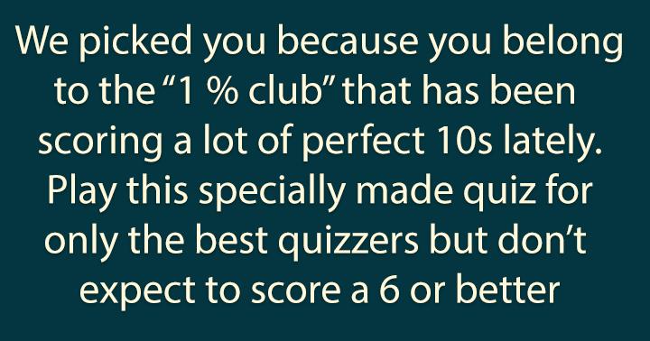 1% Club quiz