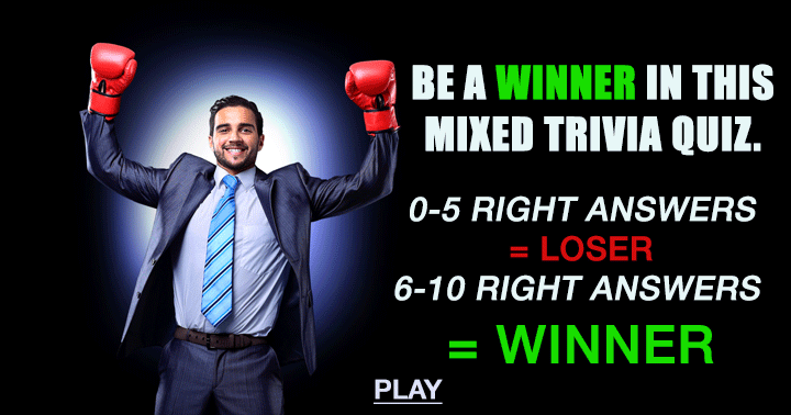 Are you going to be a loser or a winner?