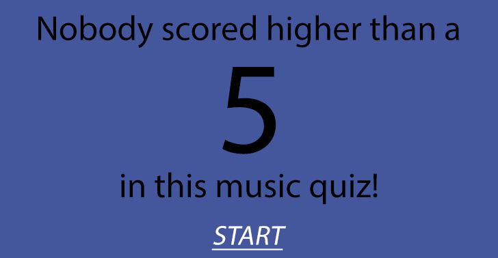 Hard music quiz