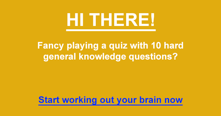 Care about your brain. Play a quiz daily!