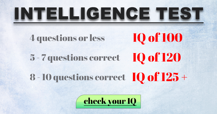 Find out your IQ in this quiz
