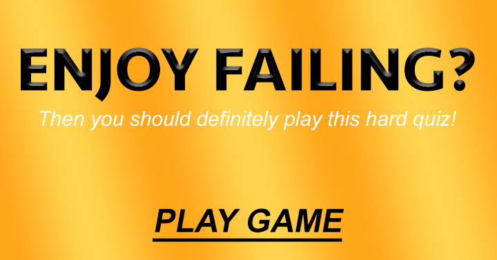 Only for people who enjoy some failing