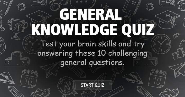 Test your brain skills with this fun but challenging general knowledge quiz.