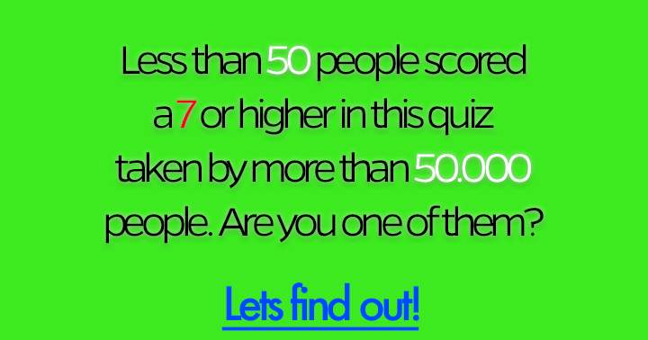 Are you one of them? Let's find out.