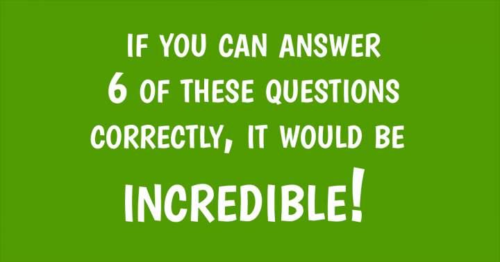 Amazing trivia quiz
